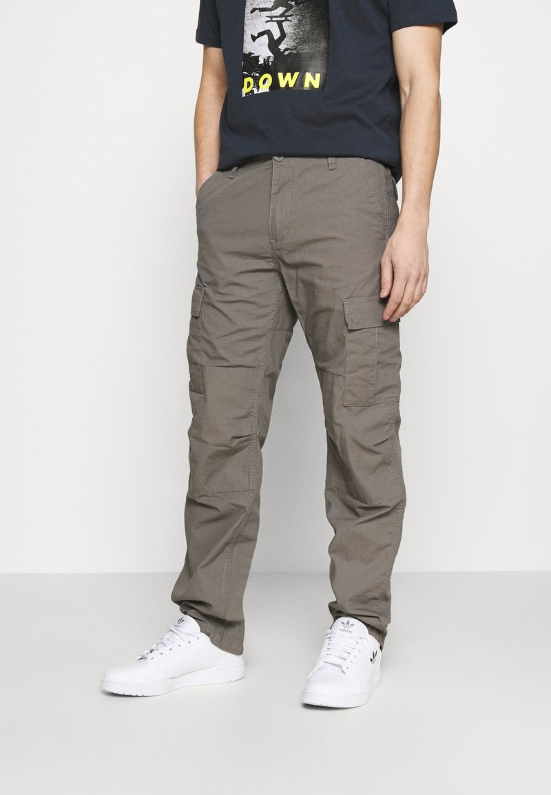 Carhartt WIP - AVIATION PANT COLUMBIA - Cargo trousers - air force grey rinsed