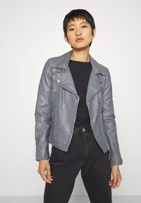 Freaky Nation - BIKER PRINCESS - Leather jacket - granite - 0