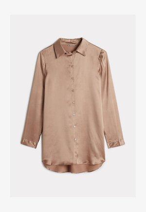 BLUSE AUS SEIDE MIT KLASSISCHER MANSCHETTE - Pyjama top - rose satin