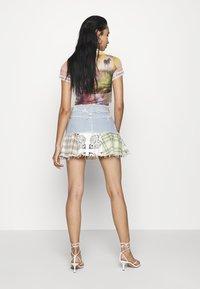 Jaded London - CHECK MIX PEPLUM SKIRT - Minifalda - multi coloured - 2