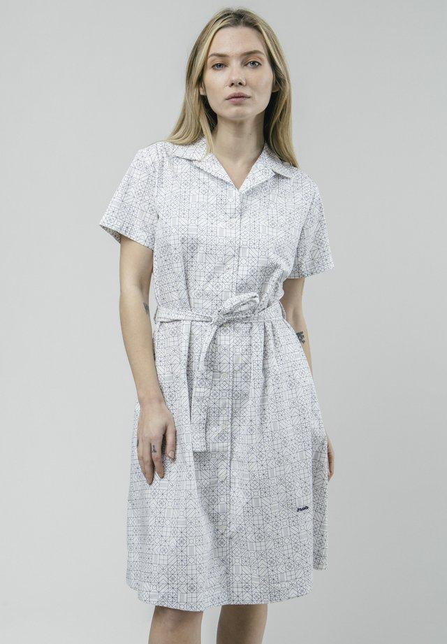 PORTUGUESE TILES - Robe chemise - white