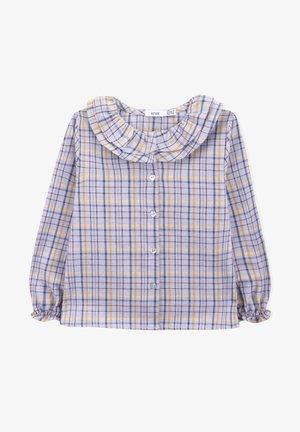 Button-down blouse - blue pattern