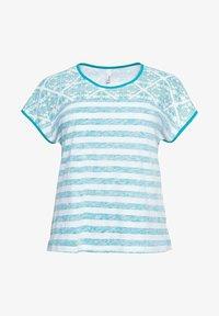 Sheego - Print T-shirt - weiß bedruckt - 4