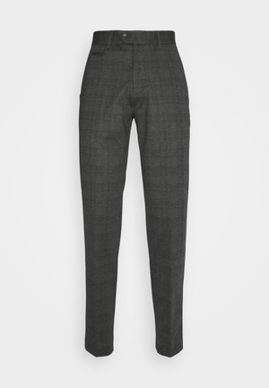 CHECKED PANTS - Trousers - grey / check