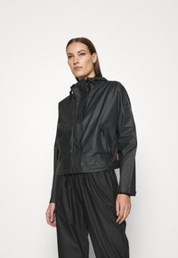 Hunter ORIGINAL - ORIGINAL CROP SMOCK - Summer jacket - black - 0