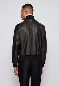 BOSS - NEOVEL - Leather jacket - black - 2