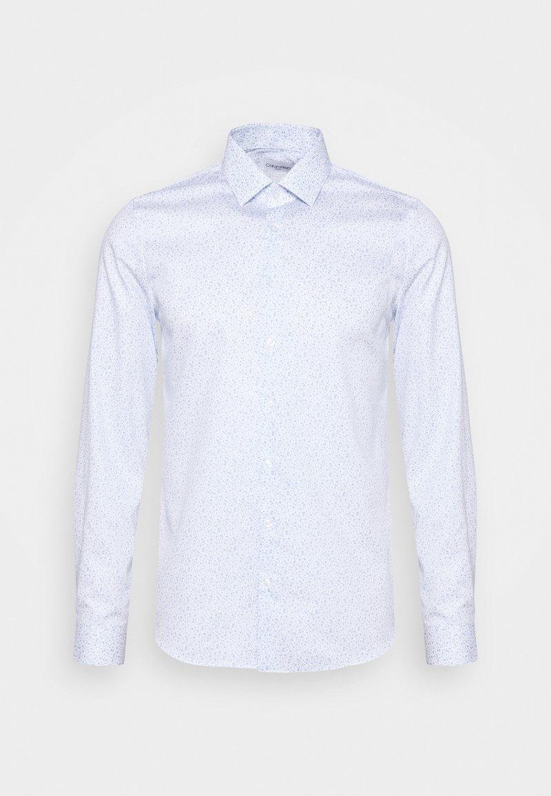 Calvin Klein Tailored - PRINTED EASY CARE SLIM - Formal shirt - blue