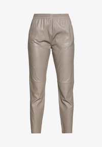 Oakwood - GIFTER - Leather trousers - mastic - 3