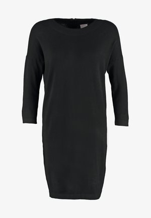 VMGLORY VIPE AURA DRESS - Pletené šaty - black