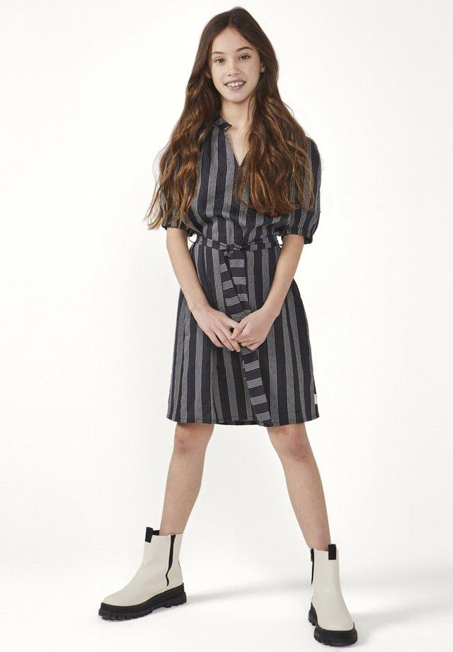 CARLIES STRIPE  - Day dress - zwart