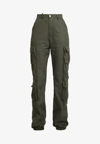 Missguided Tall - HIGH WAISTED CUFFED TROUSERS - Trousers - khaki - 4