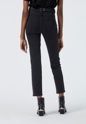 À CEINTURE WESTERN - Straight leg jeans - black