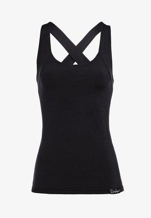 FUNCTIONAL SUPER SOFT CROSS BACK WPVR25 - Sports shirt - black