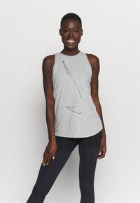 Nike Performance - DRY TANK  YOGA - Treningsskjorter - dark grey heather - 0