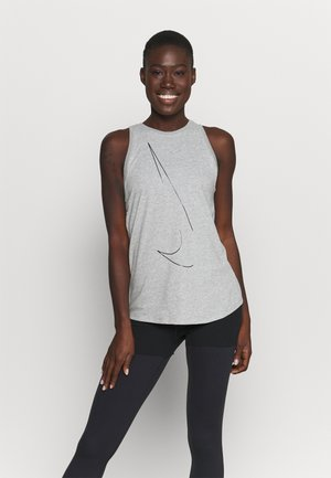 DRY TANK  YOGA - Treningsskjorter - dark grey heather
