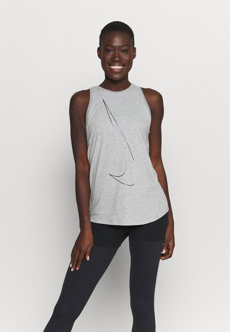 Nike Performance - DRY TANK  YOGA - Treningsskjorter - dark grey heather