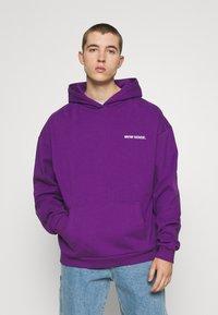 9N1M SENSE - LOGO HOODIE UNISEX - Collegepaita - purple - 0