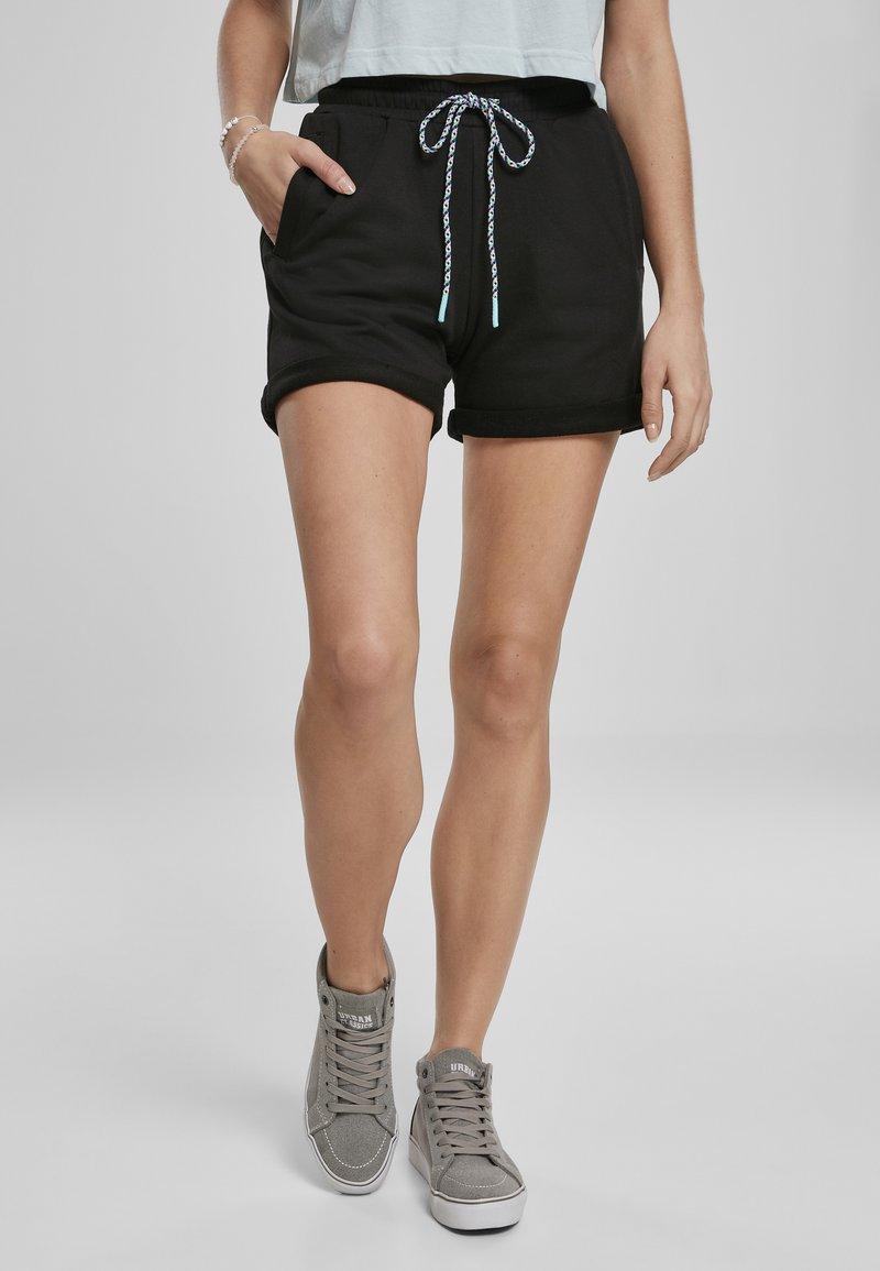Urban Classics - FRAUEN  - Shorts - black