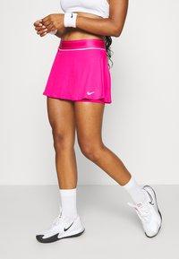 Nike Performance - FLOUNCY SKIRT - Sportovní sukně - vivid pink/white - 0
