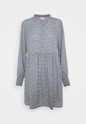 JDYCARMEN SHORT DRESS - Skjortekjole - citadel/copper brown