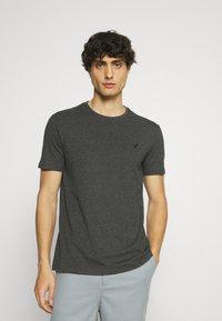 Pier One - 5 PACK - T-shirt - bas - dark grey/dark blue/olive - 4