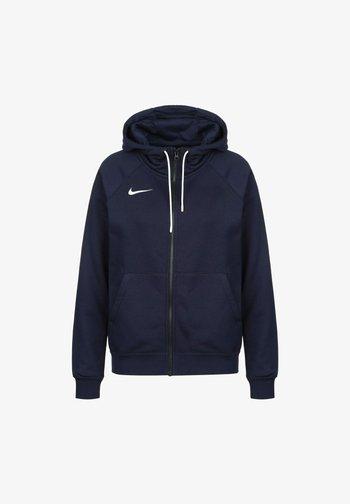PARK - Zip-up sweatshirt - obsidian / white