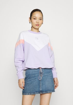 ICONIC CROPPED CREW - Collegepaita - light lavender