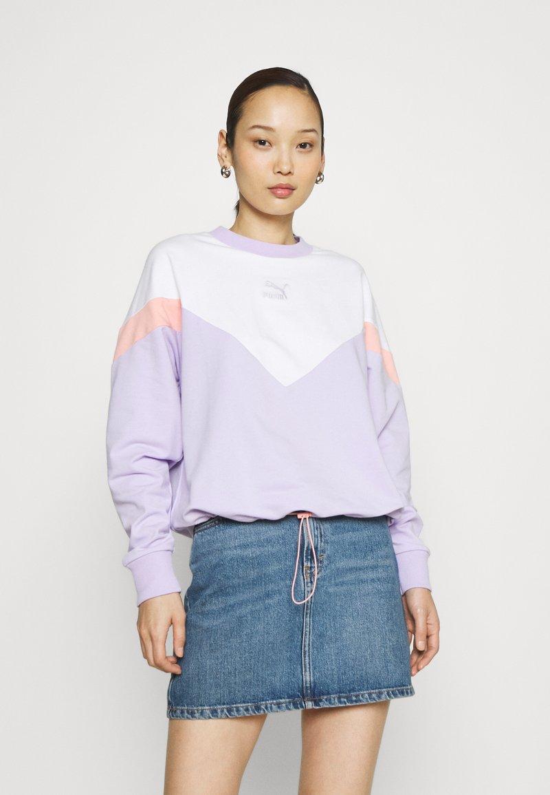 Puma - ICONIC CROPPED CREW - Sweater - light lavender