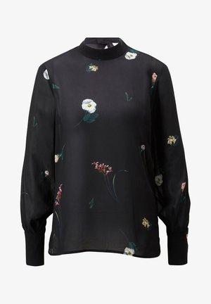 Blouse - aop - digital flower black