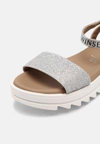 TWINSET - GLITTER - Sandals - argento - 6