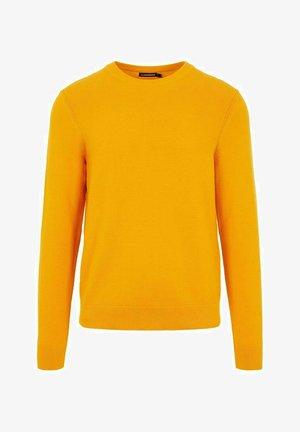 ANDY STRUCTURE C-NECK - Stickad tröja - golden orange