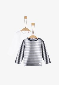s.Oliver - 2 PACK  - Long sleeved top - white/navy stripes - 0