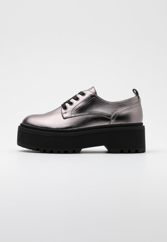 Zapatos de vestir - gunmetal