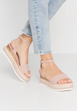 Sandales à plateforme - nude