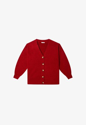 MIT BALLONÄRMELN - Cardigan - red
