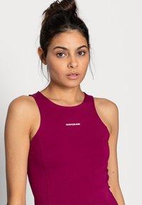 Calvin Klein Jeans - MICRO BRANDIN RACER BACK DRESS - Jerseyjurk - purple - 4