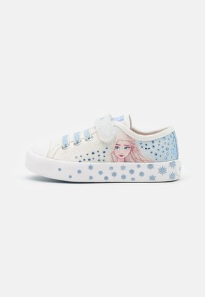Disney Frozen Elsa GEOX JUNIOR CIAK GIRL - Trainers - white/sky