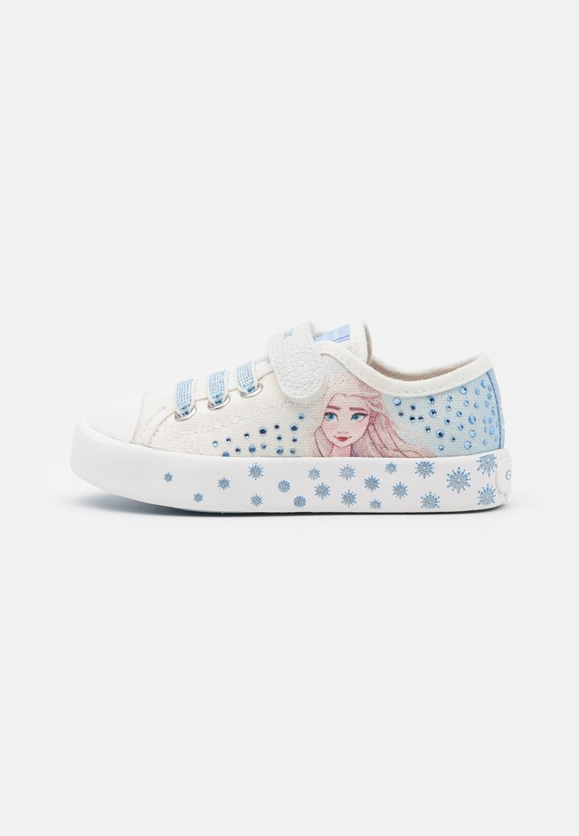 Disney Frozen Elsa GEOX JUNIOR CIAK GIRL - Sneaker low - white/sky