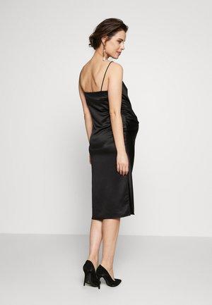 RUCH SLIP DRESS MIDI - Cocktail dress / Party dress - black