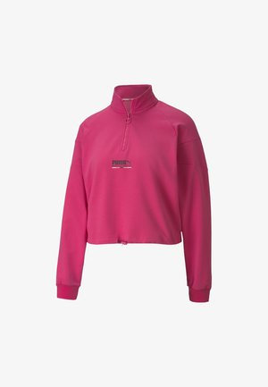 HALF ZIP CREW - Sweatshirt - glowing pink