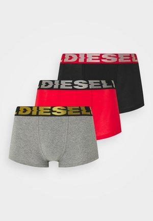 DAMIEN 3 PACK - Boxerky - black/grey/red