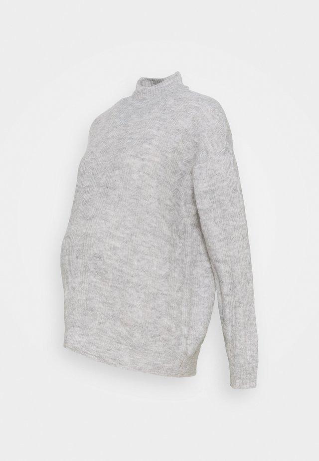 PCMBECKY HIGH NECK CABLE - Maglione - light grey melange