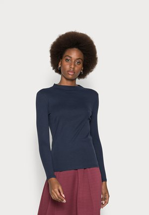 HIGH NECK - Long sleeved top - navy