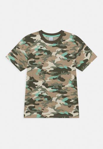 TROPICAL TEE - Print T-shirt - turqoise