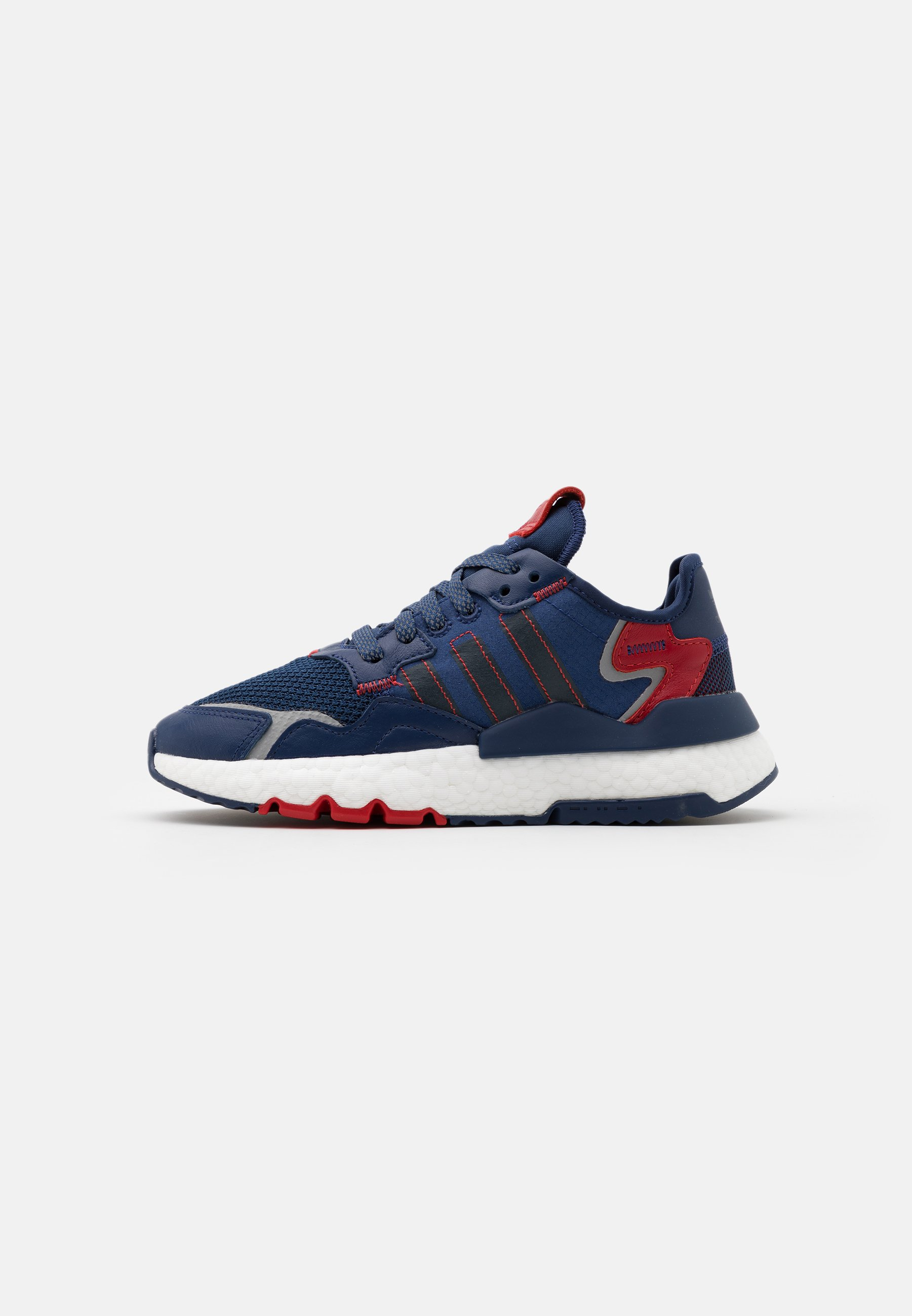 Adidas Originals Nite Jogger Boost Sports Inspired Shoes - Matalavartiset Tennarit Tech Indigo/collegiate Navy/scarlet