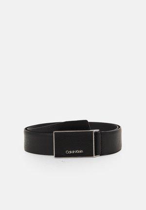 INLAY PLAQUE - Belt - black