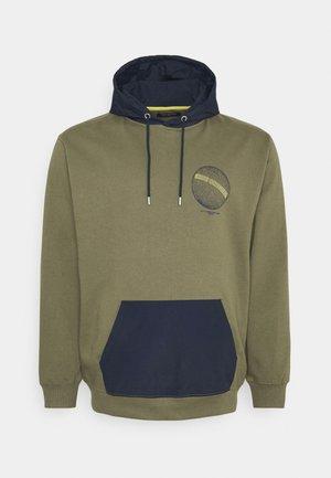 CONTRAST FABRIC PRINTED - Sweatshirt - army