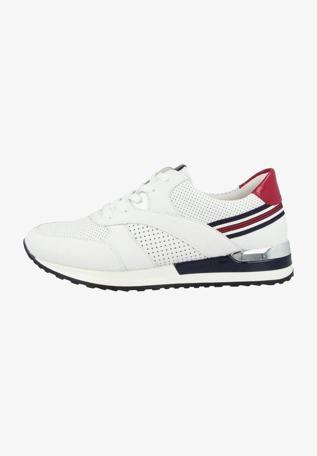 Sneakers laag - white-silver-flame-white-marine