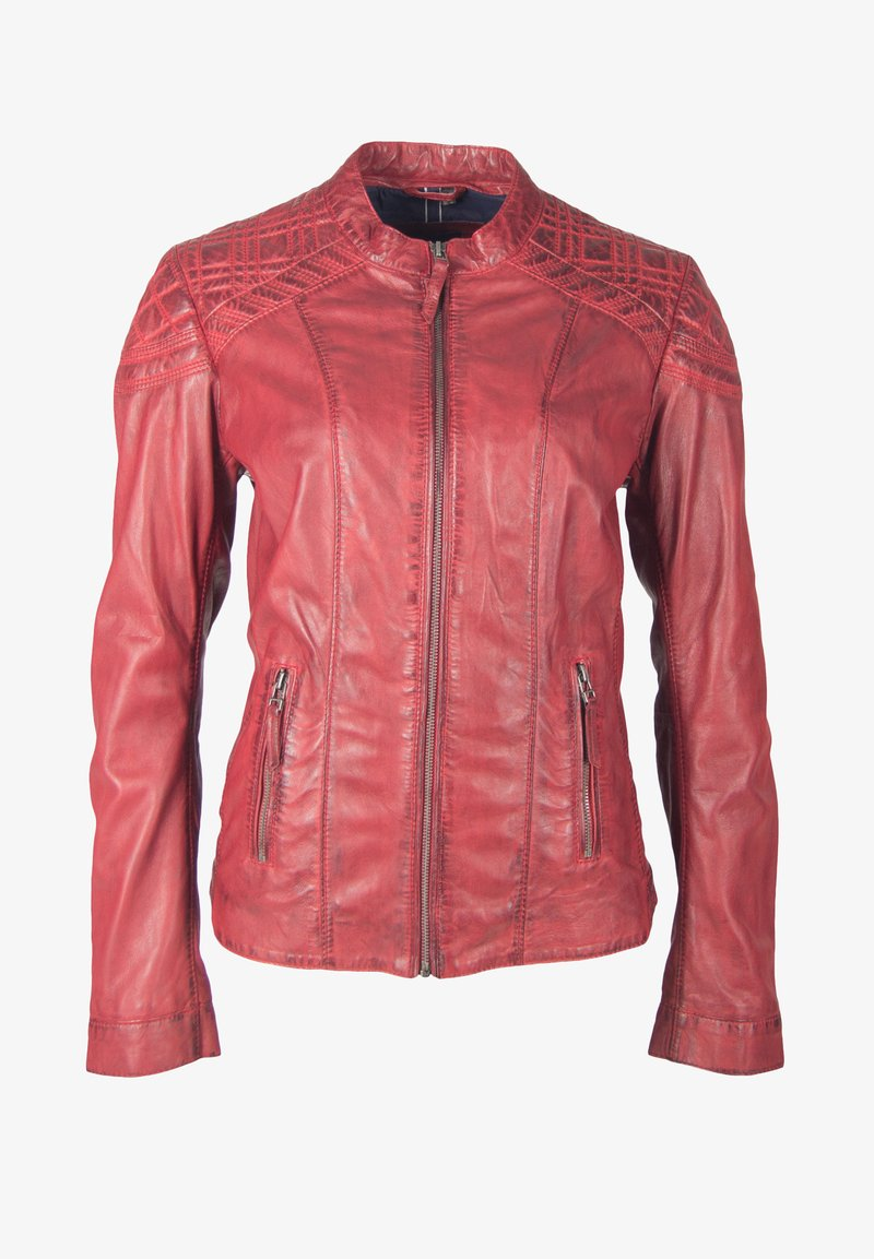 deercraft - SUN LAJUV - Leather jacket - dark red