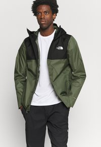 The North Face - QUEST ZIP IN JACKET - Chaqueta Hard shell - thyme/black - 3